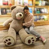 LApapaye Giant Teddy Bear Big Footprints Plush Stuffed Animals Toys,Grey (1m/39 inch)