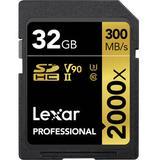 Lexar 32GB Professional 2000x UHS-II SDHC Memory Card LSD2000032G-BNNNU