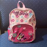 Disney Accessories | Like New Minnie Backpack Book Bag!!!!!! | Color: Red | Size: 13 Inches Long And 10 12 Inches Wide