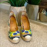 Nine West Shoes | Closed-Toe Wedges | Color: Green/Yellow | Size: 9