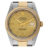 Certified Pre-Owned Rolex Datejust Reference 16203 Watch. Comes with No Box or Papers. Watch is as is
