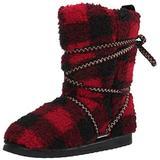 MUK LUKS womens Pull Fashion Boot, Red/Black, 10 US