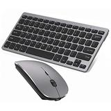 Bluetooth Keyboard and Mouse Combo,Wireless Keyboard and Mouse for iPad pro/iPad Air/iPad/iPad Mini, iPhone (iPadOS 13 / iOS 13 and Above), (Gray)