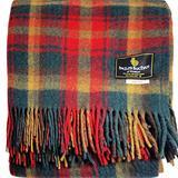 "I LUV LTD Scottish Tartan Warm Wool Mix Throw Blanket Maple Leaf Plaid Couch Blanket Bed Throw Blankets Wool Rug Outdoor Blankets and Throws 60"" x 72"""