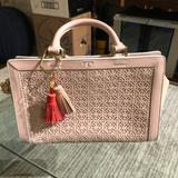 Tory Burch Bags | Guc Tory Burch Fret-T Blush Pink Satchel | Color: Pink | Size: Os