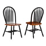 Sunset Trading Black Cherry Selections Arrowback Dining Chair In Antique Black and Cherry ( Set of 2 ) - Sunset Trading DLU-820-BCH-RTA-2