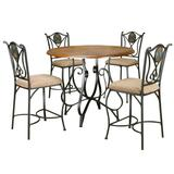 Sunset Trading 5 Piece Vail Pub Table Set - Sunset Trading CR-W2597-5PC