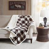 """""""Ridley 60x70"""""""" Oversized Plaid Print Faux Mink to Berber Heated Throw - Woolrich WR54-2388"""""""