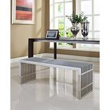 Large Gridiron Stainless Steel Bench- East End Imports EEI-570-SLV