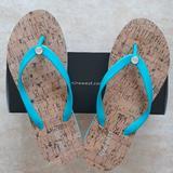 Nine West Shoes   Nine West Flip Flop Sandals   Color: Blue   Size: 8