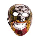Recycled papier mache mask, 'Frida Skull'