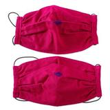 Cotton face masks 'Rich Ruby Red' (pair)