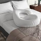 White Noise Casey Hypoallergenic Down Alternative Total Body J Shaped Plush Fiber Pregnancy Pillow Microfiber/Fiber, Size 28.0 H x 34.0 W x 8.0 D in