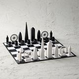 Skyline Acrylic Chess Set - New York City - Frontgate