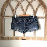 American Eagle Outfitters Shorts | American Eagle Cutoff Shorties Wpocket Detail | Color: Blue | Size: 6