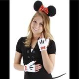 Disney Costumes | Disney Mini Mouse Ears & Fingerless Gloves & Tail | Color: Red/White | Size: Osg