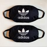 Adidas Accessories   2-Pack Adidas Facemask Mask Covering   Color: Black   Size: Os