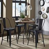 Liberty Furniture Industries Vintage Series Optional 5 Piece Gathering Table Set, Black