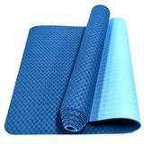 MiLuBen Tpe Eco-friendly Yoga Mat, Yoga Mats for Women, Non-slip Mat, Suitable for Pilates, Yoga and Free Exercise Mat(dark blue + light blue)