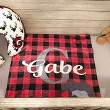 NicePodLLC Customized Blanket Buffalo Plaid Baby Blanket - Personalized Bear Baby Boy Gift Buffalo Plaid Baby Bedding - Woodland Baby Bedding Nona Meme Memes gaga Pop Mother Halloween Mother