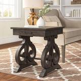Three Posts™ Kenworthy End Table Wood in Black/Brown, Size 24.0 H x 22.0 W x 22.0 D in | Wayfair 6982EBDCEE7B48109789D28AFA6F1281