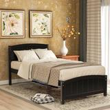 Red Barrel Studio® Analynn Twin Solid Wood Platform Bed Wood in Brown, Size 41.7 W x 79.5 D in | Wayfair 1E988EA657AB40C1A0473F692CB9D6D0