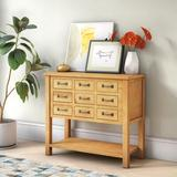 Gracie Oaks Kishor 9 Drawer Apothecary Accent Chest Wood in Brown, Size 32.0 H x 36.0 W x 15.5 D in   Wayfair TRPT2328 41885668