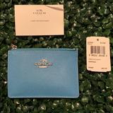 Coach Accessories | Coach Cardholder | Color: Blue | Size: Os