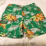 Polo By Ralph Lauren Swim | New! Mens L Tropical Island Polo Swim Shorts | Color: Green/Orange | Size: L