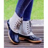 ROSY Women's Casual boots Blacksliver - Black & Silver Glitter Duck Boot - Women