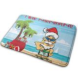 DIDIDI Mele Kalikimaka Christmas Hawaii Tree Santa Throw Area Ground Mat Accent Floor Party Outside Door Set Restroom Kitchen Bathroom Decor Welcome Entryway Rug Sign Celebrate Decorations Ornament