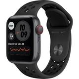 Apple Watch Nike SE (GPS + Cellular, 40mm, Space Gray Aluminum, Anthracite/Black MYYU2LL/A