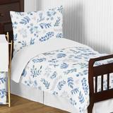 Sweet Jojo Designs Botanical Leaf 5 Piece Toddler Bedding Set in Blue/Gray | Wayfair Botanical-BU-Tod