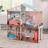 KidKraft Magnetic Makeover Dollhouse Manufactured Wood in Brown, Size 35.9 H x 11.7 W x 36.1 D in | Wayfair 10154