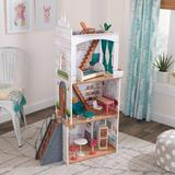 KidKraft Rowan Dollhouse Manufactured Wood in Brown, Size 48.4 H x 13.4 W x 30.2 D in | Wayfair 10238