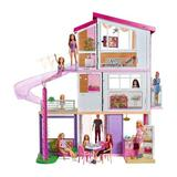 Barbie Dreamhouse Portable Doll House Plastic in Pink, Size 40.0 H x 15.0 W x 45.0 D in | Wayfair FHY73
