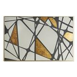 "Everly Quinn Unframed Painting Print on Metal, Metal in Brown/Gray, Size Medium 25""-32"" 