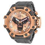 Invicta Men's Shaq Swiss Quartz Watch with Stainless Steel Strap, Gunmetal, 26 (Model: 33658)