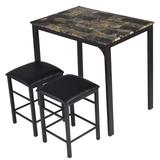 Costway 3 Piece Counter Height Dining Set Faux Marble Table