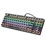 Gaming Keyboards,Mechanical Gaming Keyboard Mechanical Keyboard Blue Switch with 9 True RGB Backlight Modes and 87-Key Wired Keyboard with Full-Key programmable Spill-Resistant for Computer PC Games