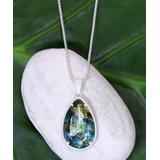 Katherine Winters Women's Necklaces SILVER - Labradorite & Sterling Silver Jessica Pendant Necklace