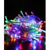 Shou String Lights Colorful_10M - 100-Bulb Red & Blue USB LED String Lights
