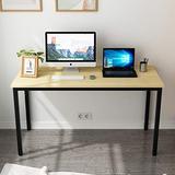 SDHYL 55 inches Modern Computer Desk X-Large Computer Desk for Studio Table, Home Office Desk/Workstation, Dining Table, Meeting Desk, Large Study Desk, Oak, S7-GCP2AC3-140OA-N