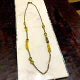 J. Crew Jewelry   J. Crew Yellow & Antique Gold 31 Inch Necklace   Color: Gold/Yellow   Size: 31 Inch