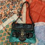Gucci Bags   Gucci Tom Ford Blue Green Crocodile Satin Handbag   Color: Brown/Green   Size: Os