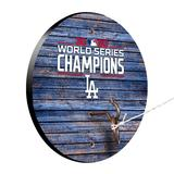 """""""Los Angeles Dodgers 2020 World Series Champions Weathered Design Hook and Ring Game"""""""