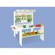 PINOLINO Marktstand Momo Massiv: Fichte, weiß und bunt lackiert BxTxH: 108x95x123 cm, Thekenhöhe 57 cm