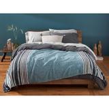 Coyuchi Mariposa Supersoft 100% Cotton Blanket Cotton in Blue, Size 92.0 H x 90.0 W in | Wayfair 1023559