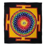 Bungalow Rose Handmade on Dream Batik Rayon Wall Hanging in Black/Orange, Size 43.0 H x 39.0 W in | Wayfair 313434