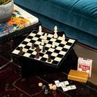 Trinx 7 Piece Multi-Game Set Wood in Brown, Size 2.25 H x 11.5 W in   Wayfair G550